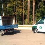 Mercedes T1 w złym stanie technicznym zatrzymany pod Olsztynem