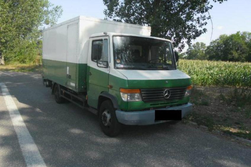 Mercedes Vario 814D kolejny raz zatrzymany przez ITD