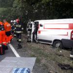Na DK 45 bankowóz wypadł z drogi – nie żyje konwojent