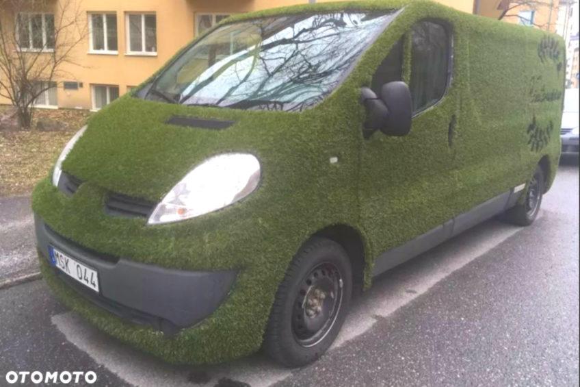 Pokryte trawą Renault Trafic II do kupienia na otomoto.pl