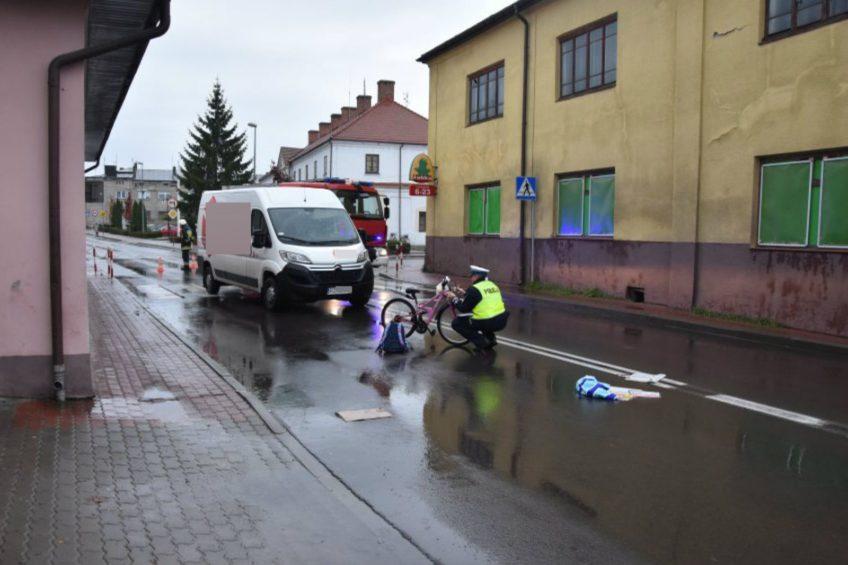 Kurierskim Citroënem Jumperem potrącił 11-latkę na pasach