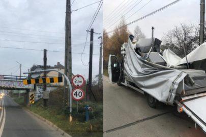 W Kozach Renault Master nie zmieściło się pod wiaduktem