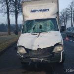 Na DK 94 Mercedes Sprinter śmiertelnie potrącił pieszego