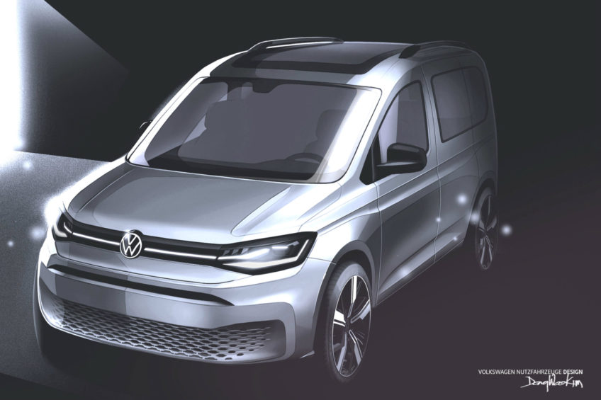 Volkswagen Caddy V – opublikowano nowe szkice sylwetki auta