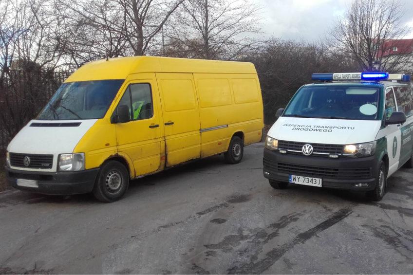 Volkswagen LT w fatalnym stanie a kierowca z sądowym zakazem