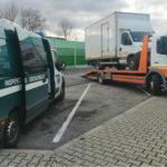 Iveco Daily przeładowane na pusto a laweciarz bez prawa jazdy C
