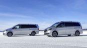 Mercedes-Benz EQV testowany w pobliżu Koła Podbiegunowego