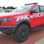 Strażacki Ford Ranger Raptor przygotowany przez firmę Auto Galeria