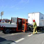 Wypadek pod Warszawą z udziałem Iveco Daily i Opla Movano