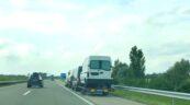 Pendolino z busów na węgierskiej M5 – całość uciągnął VW Crafter