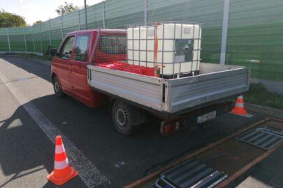 VW T5 przewoził ADR-y bez przeszkolenia – 1300 zł mandatu