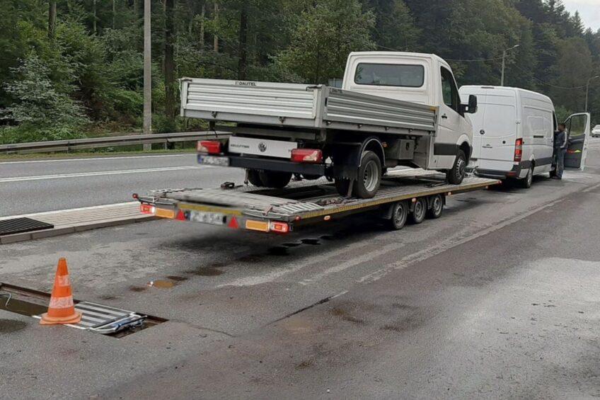 Sprinterem ciągnął Craftera – przewoźnik bez tacho i licencji