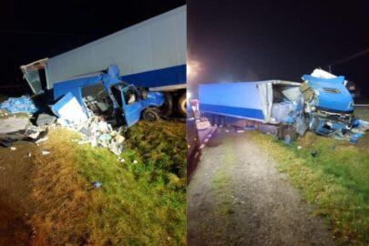 Zderzenie DAF-a z Fordem Transitem – zmarły 4 osoby z busa