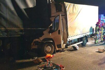Śmiertelny wypadek na S8 – nie żyje kierowca Peugeota Boxera