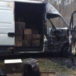 Pojechali do pożaru Iveco Daily. Na pace 2600 litrów alkoholu