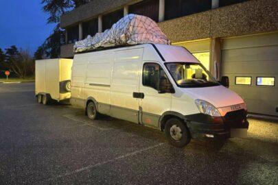 Daily z przyczepą ważyło 14500 kg – 90 € za każde 500 kg ponad DMCZ