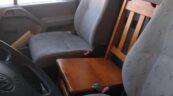 Drewniane krzesło i brak przeglądu – VW LT zatrzymany w Poznaniu