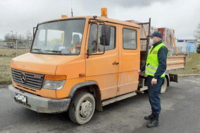 Zarejestrowany na 3,5 tony Mercedes Vario – na wadze wyszło 7 ton