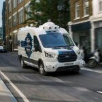 Autonomiczny kurierski Ford Transit na testach w Europie