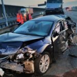 Jechał Renault Master pod prąd po autostradzie A8 bez świateł