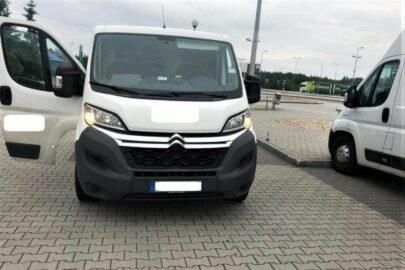Skradziony Citroen Jumper zatrzymany w Olszynie