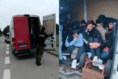27 imigrantów w kurierskim busie – zatrzymano ukraińskiego kierowcę